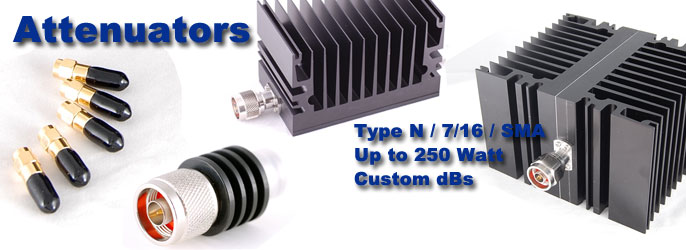 Cross RF attenuators